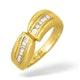 18K Gold Baguette Diamond Channel Set Ring 0.35ct - image 1
