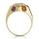 Amethyst Citrine Blue Topaz and Garnet Signature Ring in 9K Gold - image 2