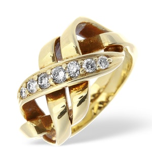 14K Gold Pave Diamond Twist Design Ring Item RTC-ET3390
