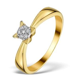 Diamond 0.07ct 9K Gold Cluster Ring - RTC-ET3304