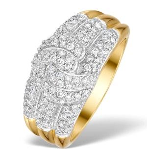 0.50ct Diamond Half Eternity Ring in 9K Gold