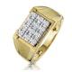 Diamond 0.23ct 9K Yellow Gold Mens Ring - image 1