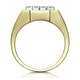 Diamond 0.23ct 9K Yellow Gold Mens Ring - image 2