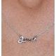 Diamond Stellato Love Necklace 0.04ct in 9K White Gold - image 3