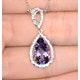 Amethyst 2.78CT And Diamond 9K White Gold Necklace - image 2