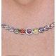 Rainbow Sapphires and Diamond Stellato Necklace 9K White Gold - image 3
