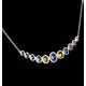 Rainbow Sapphires and Diamond Stellato Necklace 9K White Gold - image 4