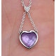 Amethyst and Diamond Stellato Heart Necklace in 9K White Gold  D3524 - image 3