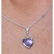 Amethyst and Diamond Stellato Heart Necklace in 9K White Gold  D3524 - image 4