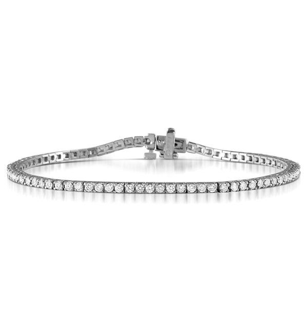 Diamond Tennis Bracelet Chloe 2.00ct Premium Claw Set 18K White Gold - image 1
