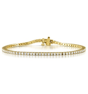 Diamond Tennis Bracelet 18K Gold Chloe 2.00ct G/Vs