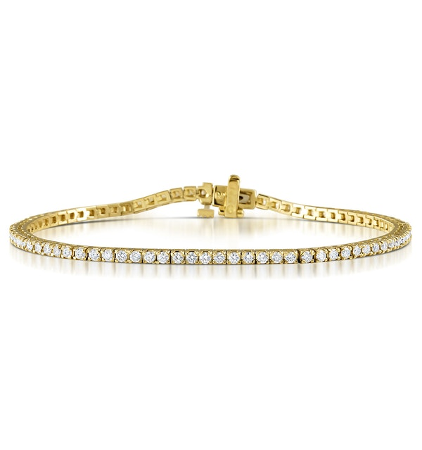 Diamond Tennis Bracelet 18K Gold Chloe 2.00ct G/Vs - image 1