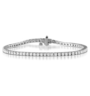Chloe Lab Diamond Tennis Bracelet  3.00ct G/VS Set in 18K White Gold