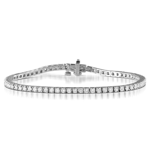 Diamond Tennis Bracelet 18K White Gold Chloe 3.00ct G/Vs - image 1