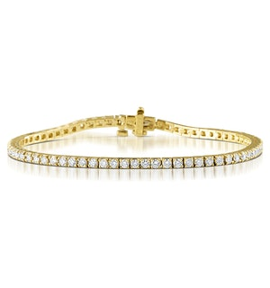 Chloe Lab Diamond Tennis Bracelet  3.00ct H/Si Set in 9K Gold