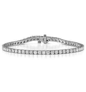 Chloe Lab Diamond Tennis Bracelet  5.00ct G/VS Set in 18K White Gold