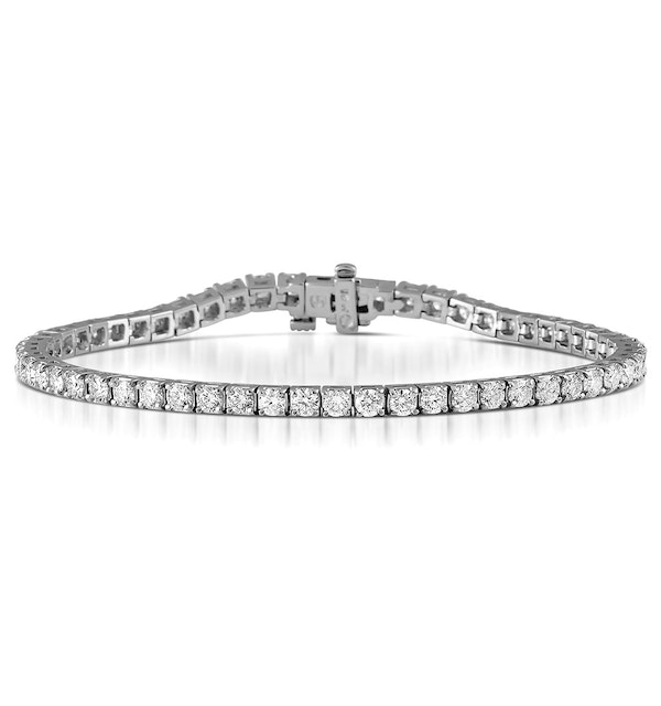 Chloe Lab Diamond Tennis Bracelet  5.00ct G/VS Set in 18K White Gold - image 1