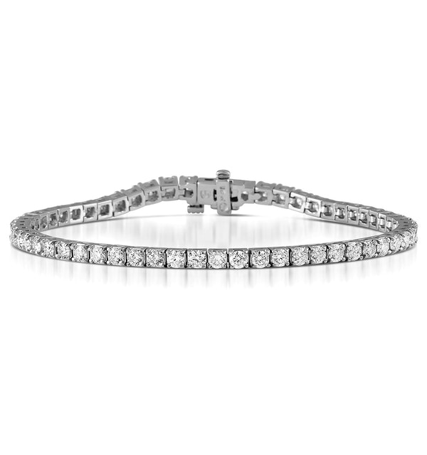 Diamond Tennis Bracelet Chloe 5.00ct Premium Claw Set 18K White Gold - image 1