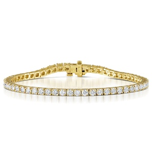 Diamond Tennis Bracelet 18K Gold Chloe 5.00ct G/Vs