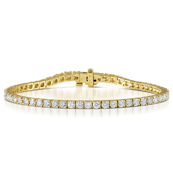 Diamond Tennis Bracelet 18K Gold Chloe 5.00ct G/Vs - image 1