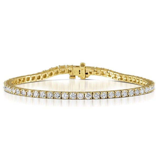 Diamond Tennis Bracelet 18K Gold Chloe 6.00ct G/Vs - image 1