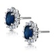 Sapphire and 0.5ct Diamond Earrings 18K White Gold Asteria Collection - image 3