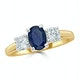 Sapphire 0.80ct And Diamond 0.50ct 18K Gold Ring  FET23-U - image 2