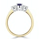 Tanzanite 7 x 5mm And Lab Diamonds G/Vs 18K Gold Ring FET23-V - image 3
