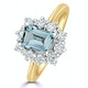 Aquamarine 0.85ct and Diamond 0.50ct 18K Gold Ring - image 1