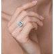Aquamarine 0.85ct and Diamond 0.50ct 18K White Gold Ring - image 4