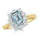 Aquamarine 0.85ct and Diamond 0.50ct 18K Gold Ring - image 2