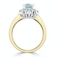 Aquamarine 0.85ct and Diamond 0.50ct 18K Gold Ring - image 3