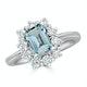 Aquamarine 0.85ct and Diamond 0.50ct 18K White Gold Ring - image 2