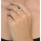 Emerald 1.00ct And Diamond 0.50ct 18K Gold Ring - image 2