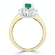 Emerald 1.00ct And Diamond 0.50ct 18K Gold Ring - image 3
