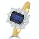 Sapphire 1.15ct And Diamond 0.50CT 18K Gold Ring - image 1