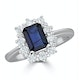 Sapphire 1.15ct And Diamond 0.50ct 18K White Gold Ring - image 2