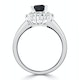 Sapphire 1.15ct And Diamond 0.50ct 18K White Gold Ring - image 3