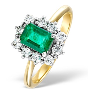 Emerald 1.00ct And Diamond 0.50ct 18K Gold Ring