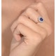 Sapphire 0.80ct And Diamond 0.50ct 18K Gold Ring - image 4