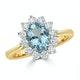 Aquamarine 1.10ct and Diamond 0.50ct 18K Gold Ring - image 2
