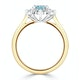 Aquamarine 1.10ct and Diamond 0.50ct 18K Gold Ring - image 3
