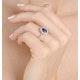 Sapphire 1.55ct And Diamond 0.50ct 18K White Gold Ring - image 4