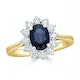 Sapphire 1.55ct And Diamond 0.50ct 18K Gold Ring - image 2