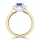 Tanzanite 8 x 6mm And Diamond 18K Gold Ring - image 3