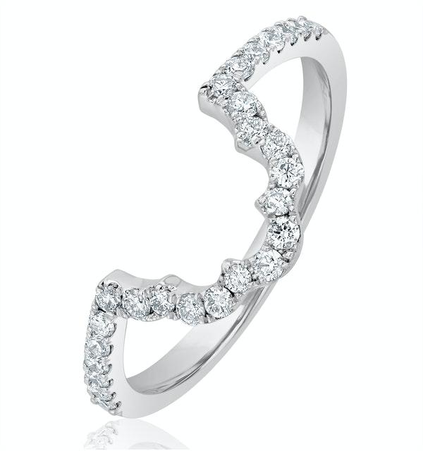 FET27 Matching Wedding Band Diamond 0.30ct H/Si in 18K White Gold - image 1