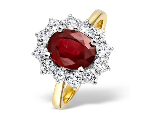 ruby yellow gold engagement rings