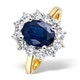 Sapphire 2.30ct And Diamond 1.00ct 18K Gold Ring - image 1