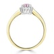 18K Gold Diamond and Oval Pink Sapphire Ring 0.08ct - image 3