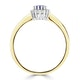 Tanzanite 6 x 4mm And Diamond 9K Gold Ring - image 3